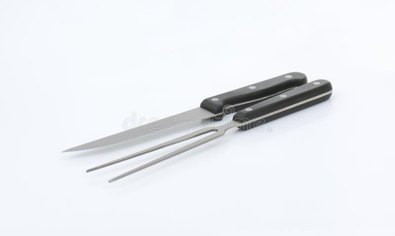 Cuchillo y fork de talla imagenes de archivo