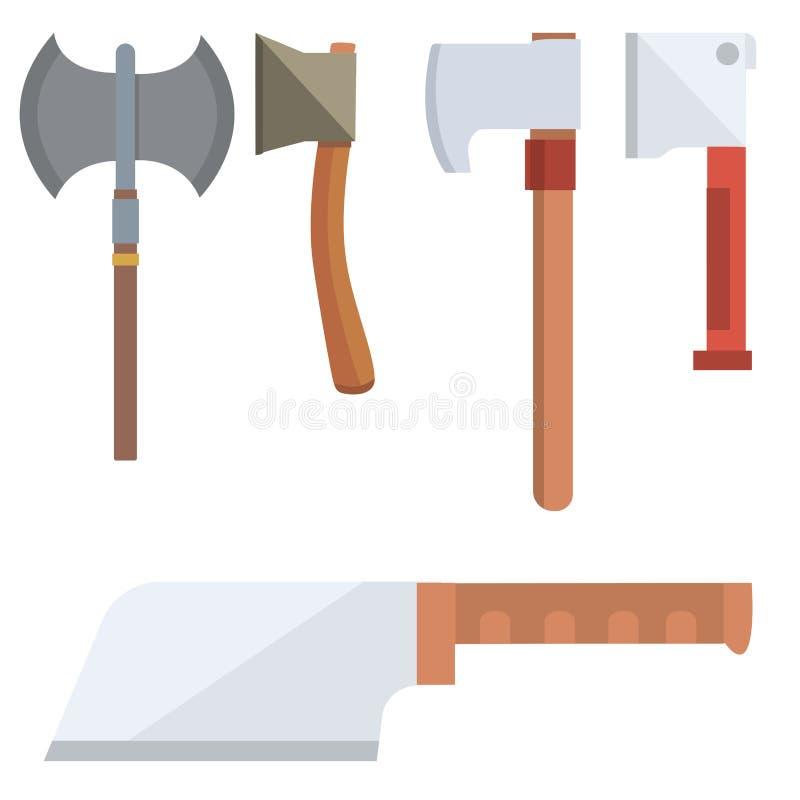 Cuchillos que cocinan el ejemplo inoxidable del vector de la herramienta de la cuchilla del restaurante de la maquinilla de afeit libre illustration
