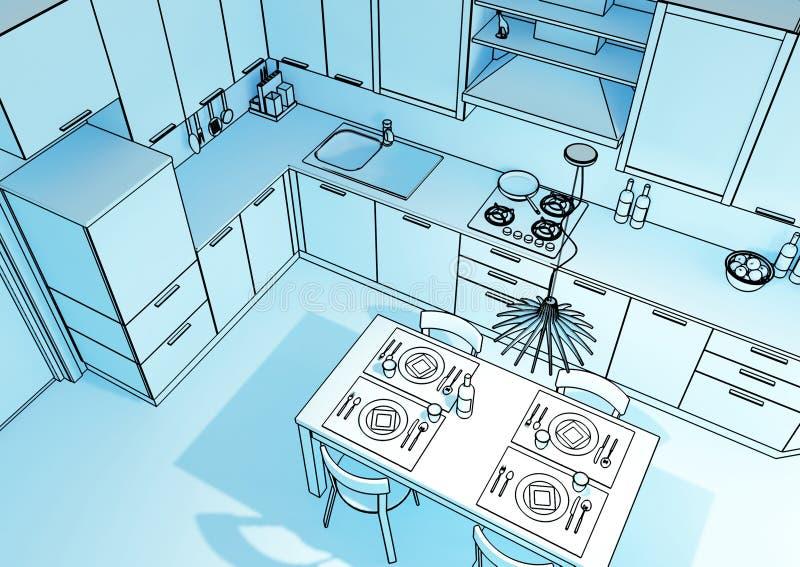 cucina 3d royalty illustrazione gratis