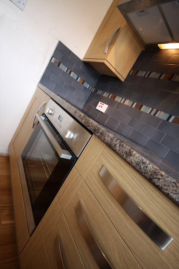 Cucina ad angolo del ? interno della Camera fotografie stock libere da diritti