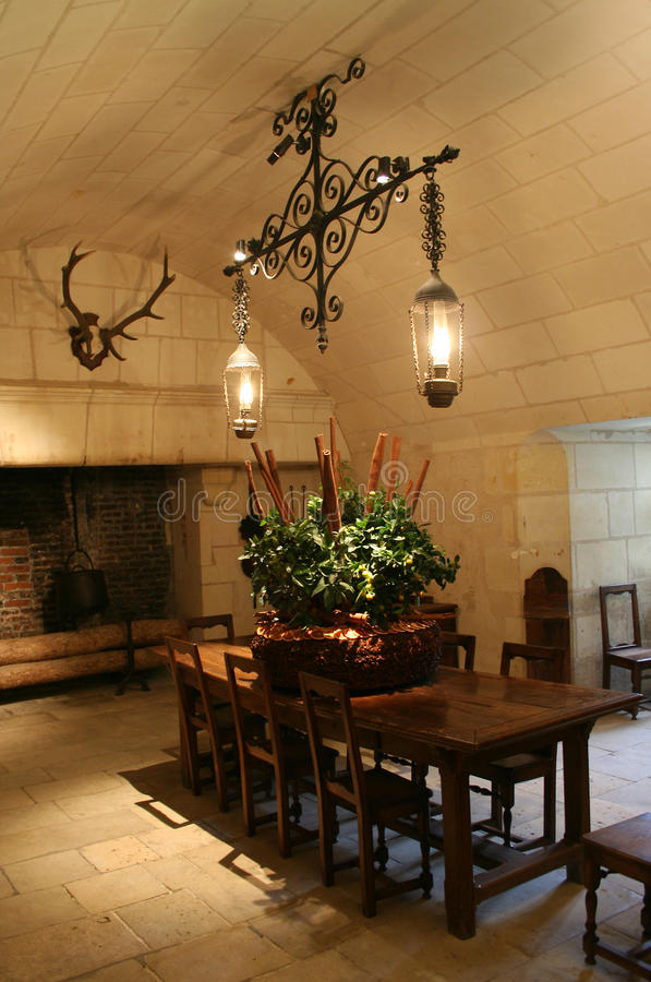 Cucina Antica Di Chateau De Chenonceau, Francia Immagine Stock ...