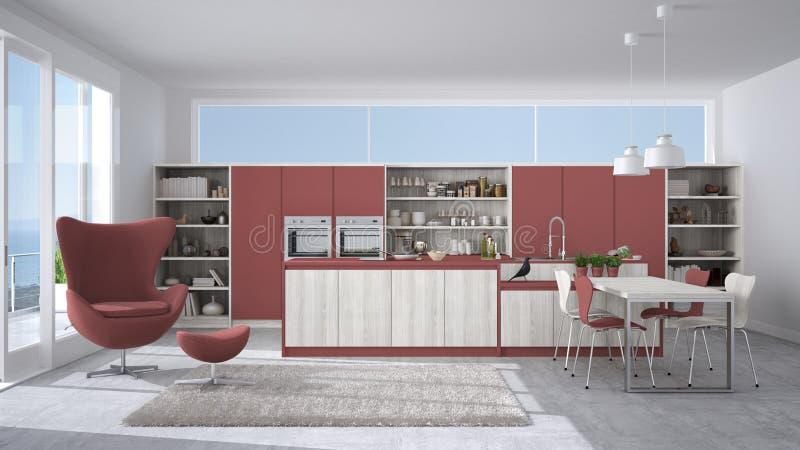 Cucina Bianca E Rossa. Perfect Amazing Cucina Rossa E Pareti Cucina ...