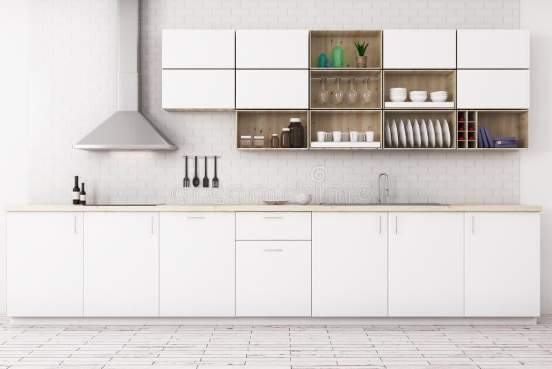Cucina bianca moderna illustrazione di stock