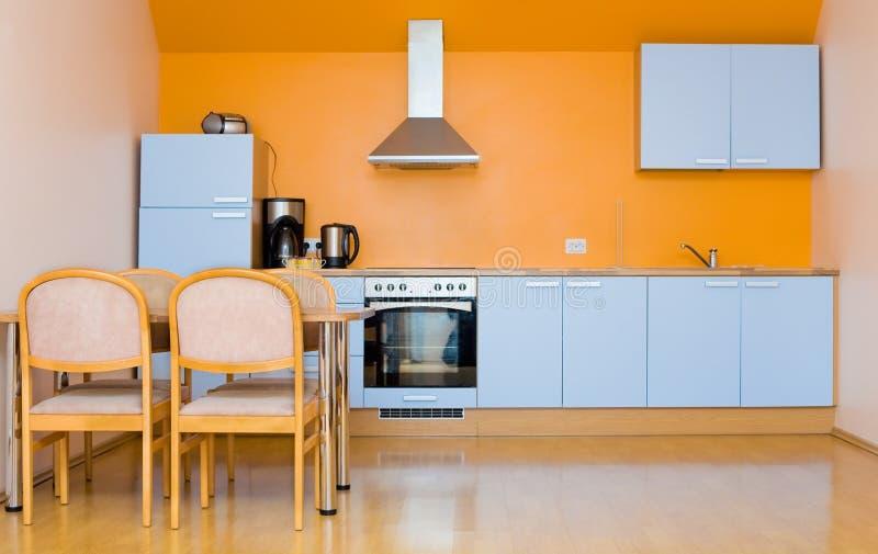 Cucina blu fotografia stock