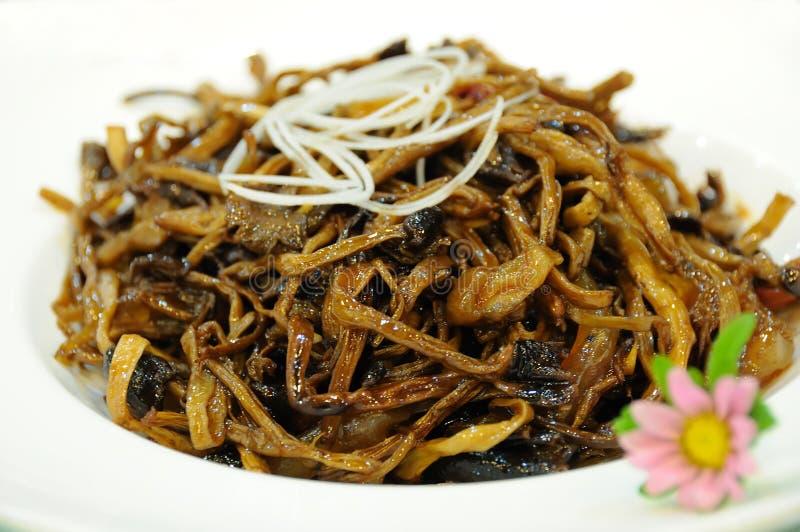 Cucina cinese Agrocybe fotografie stock