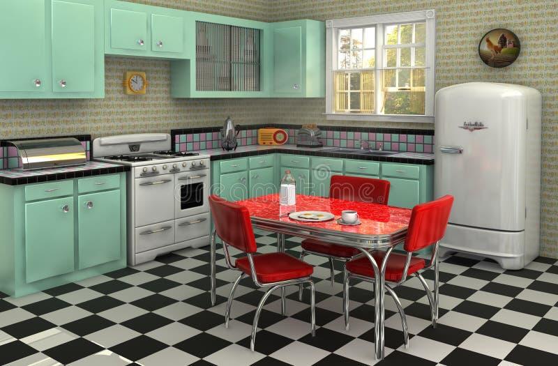 Cucina degli anni 50 illustrazione di stock. Illustrazione di ...