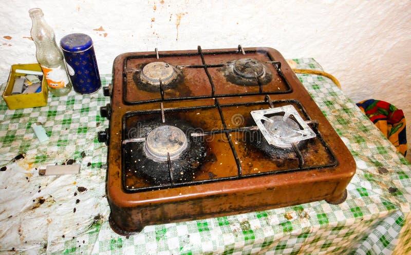 Cucina del beduino in deserto del Sahara immagine stock libera da diritti