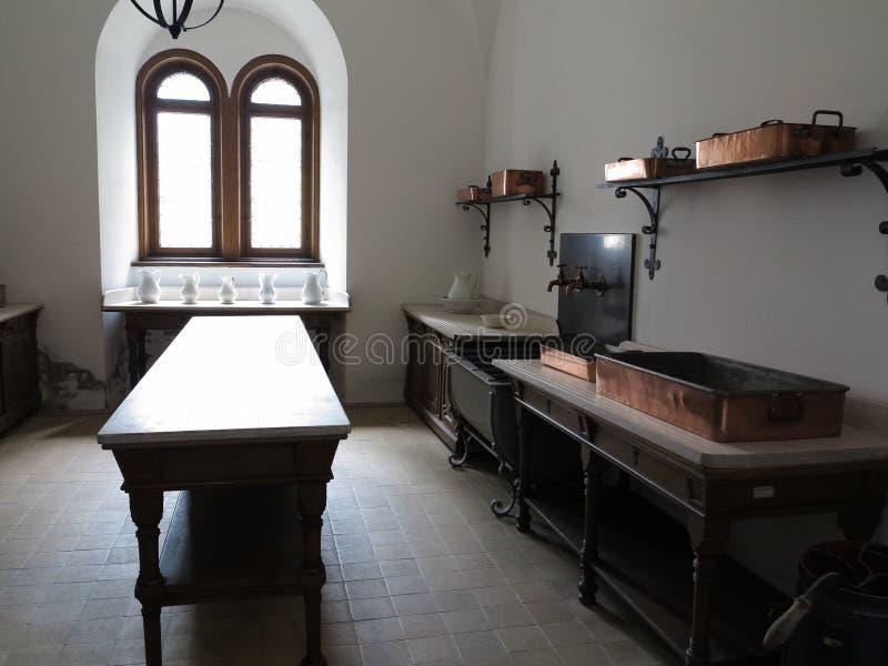 Cucina del castello fotografia stock libera da diritti