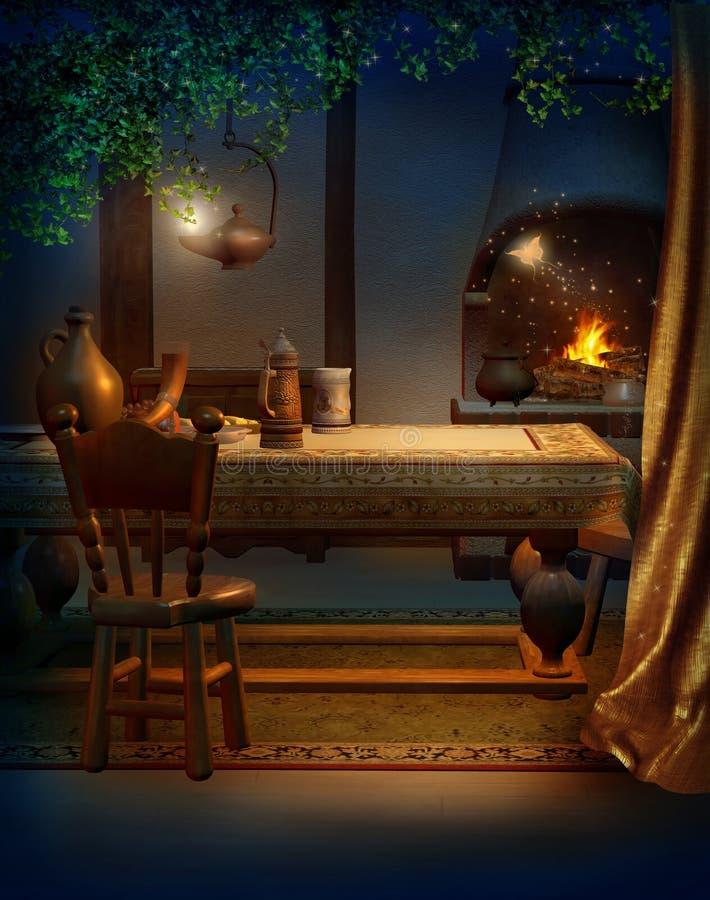 Cucina dell'annata illustrazione vettoriale