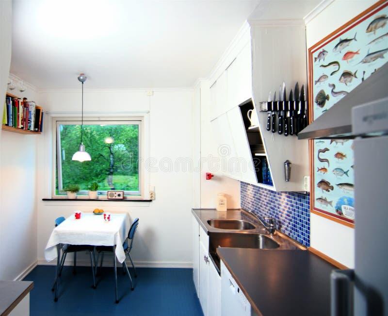 Cucina d'annata modernizzata immagini stock