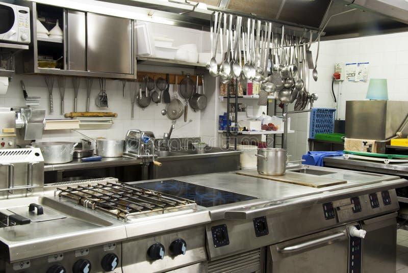 Cucina dell'hotel fotografie stock