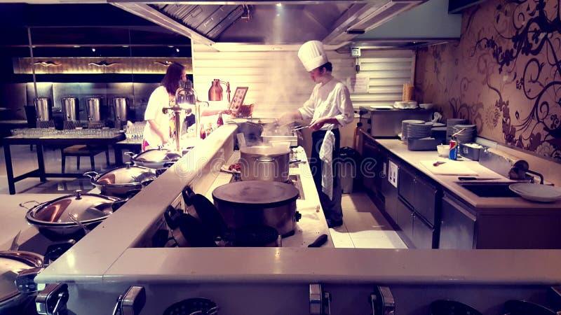 Cucina dell'hotel immagini stock