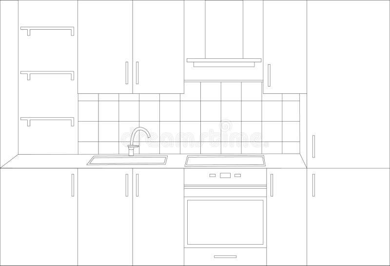 cucina della cambiale illustrazione vettoriale