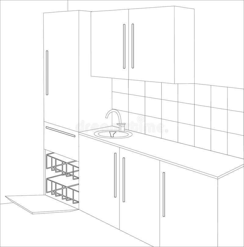 cucina della cambiale royalty illustrazione gratis