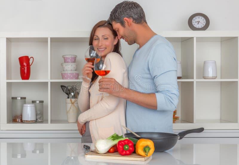 Cucina della famiglia fotografie stock