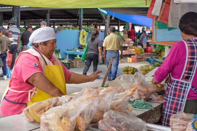 Cucina della via nell'Ecuador, alimento di vendita di Equatorians, spuntini nazionali da cereale, griglia, popcorn, cereale fritt immagini stock libere da diritti
