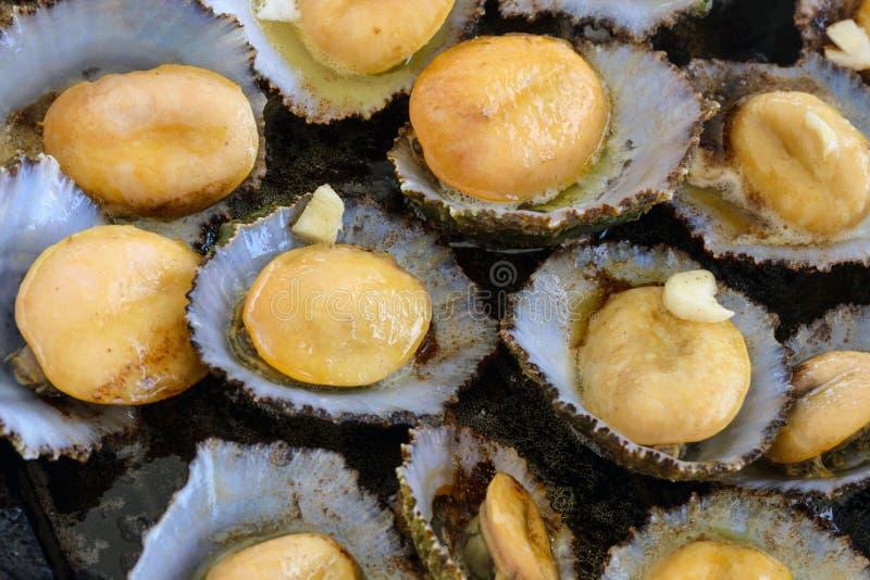 Cucina delle Azzorre I molluschi di Lapas, patelle sono popolari come spuntino in Azzorre fotografia stock