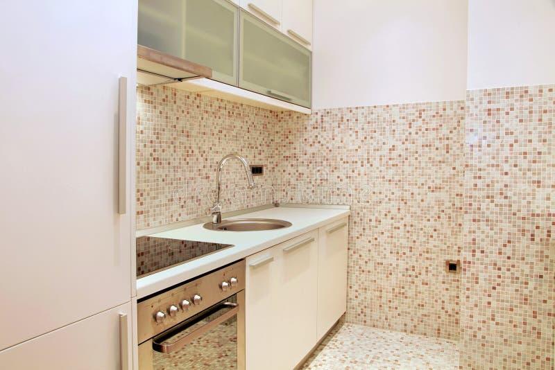 Cucina Delle Mattonelle Di Mosaico Immagine Stock - Immagine di ...