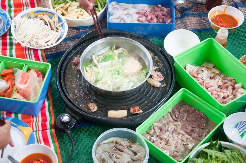 Cucina dello stufato di castrato di stile cinese fotografia stock libera da diritti