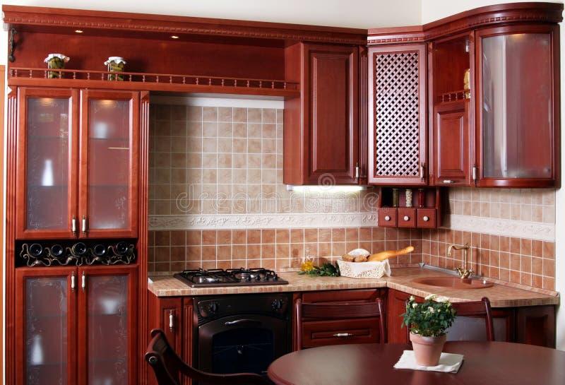 Cucina di legno immagini stock libere da diritti