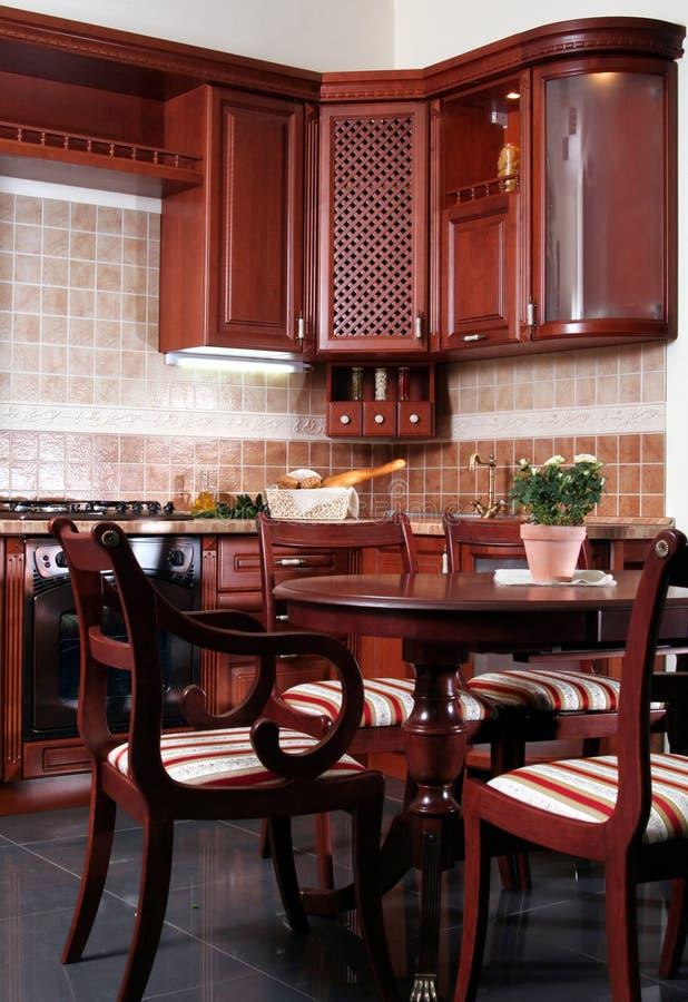 Cucina di legno immagine stock libera da diritti