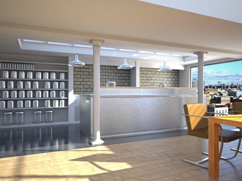 Cucina di lusso di New York illustrazione vettoriale
