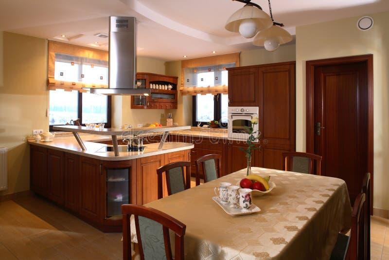 Cucina domestica classica fotografia stock