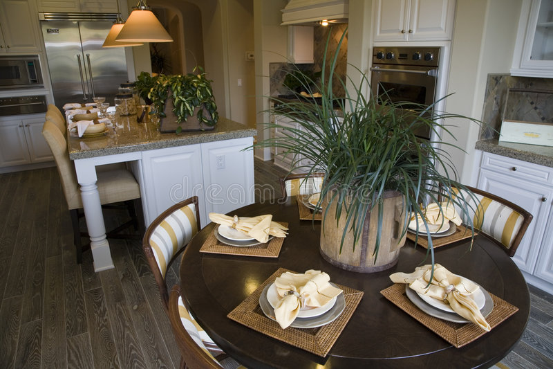 Cucina domestica di lusso fotografia stock libera da diritti