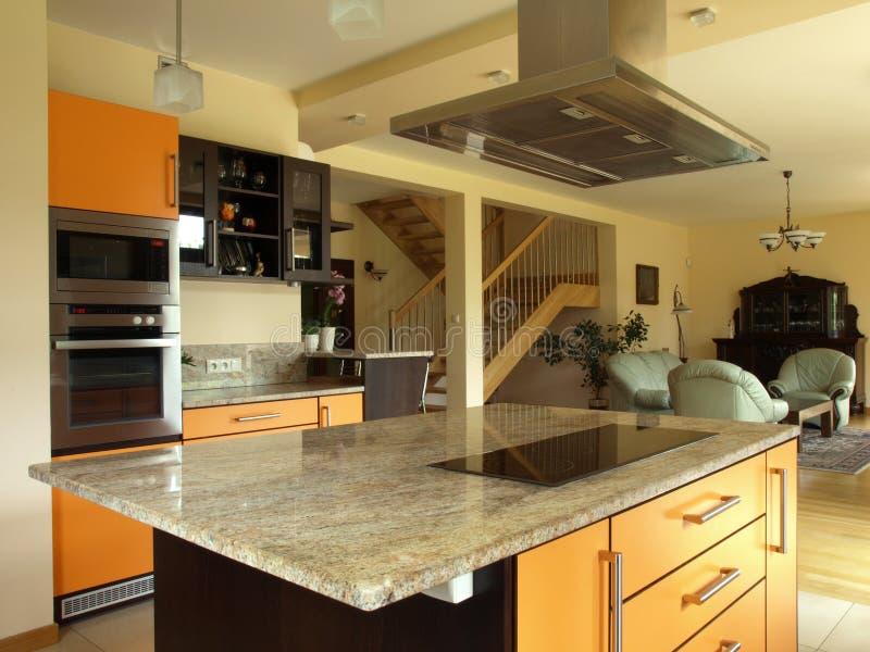 Cucina e sala da pranzo fotografie stock libere da diritti