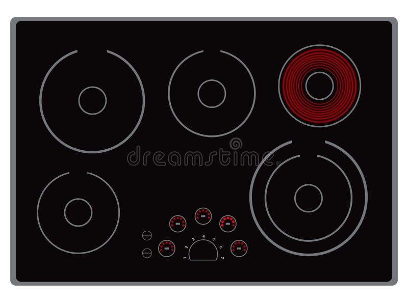 Cucina elettrica moderna illustrazione vettoriale