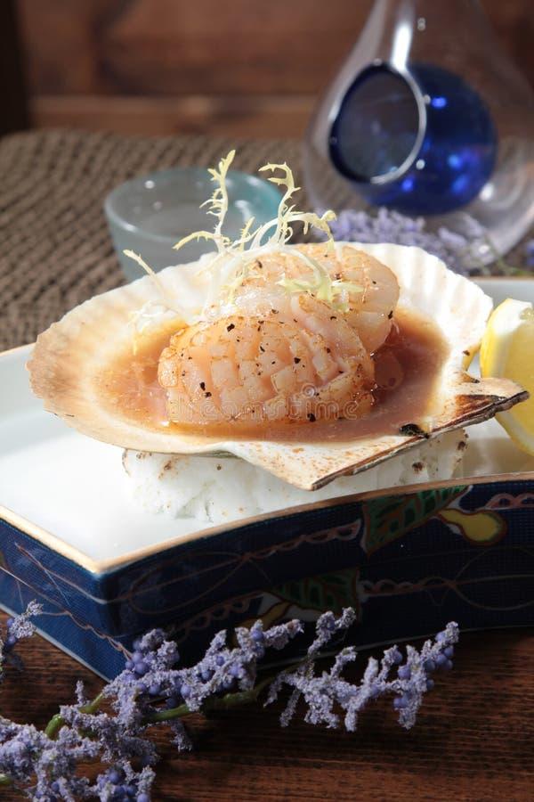 Cucina fresca e saporita dei frutti di mare fotografia stock