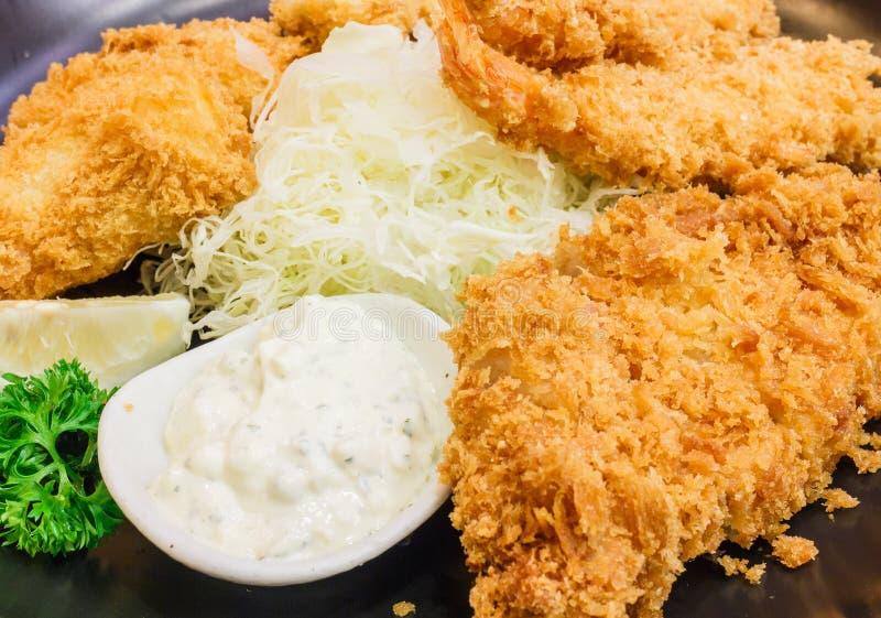 Cucina giapponese - alimento della tempura immagine stock