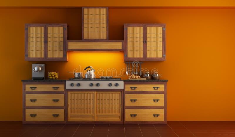 cucina interna moderna royalty illustrazione gratis