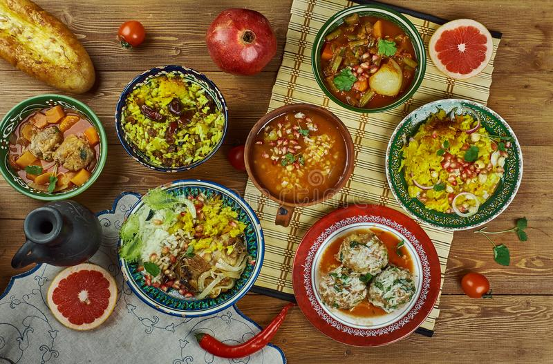 Cucina iraniana fotografia stock
