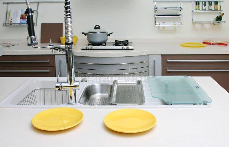 Cucina moderna fotografie stock libere da diritti