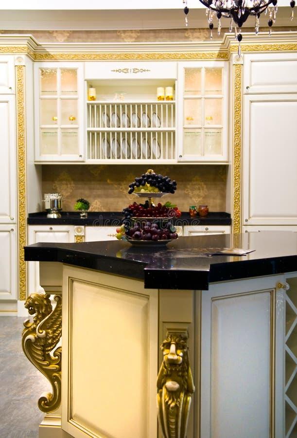 Cucina moderna classica immagine stock