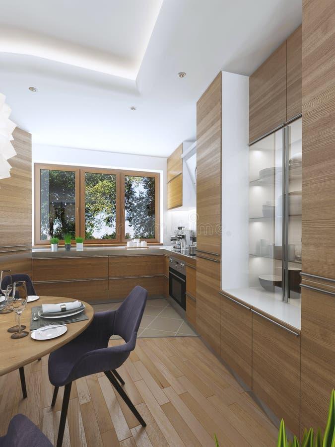 Cucina moderna nello stile contemporaneo della sala da for Sala da pranzo stile contemporaneo