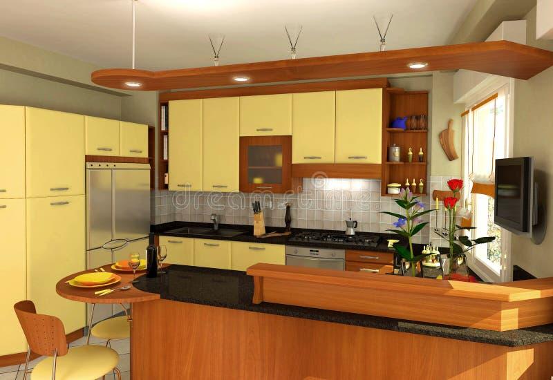 Cucina romantica illustrazione vettoriale
