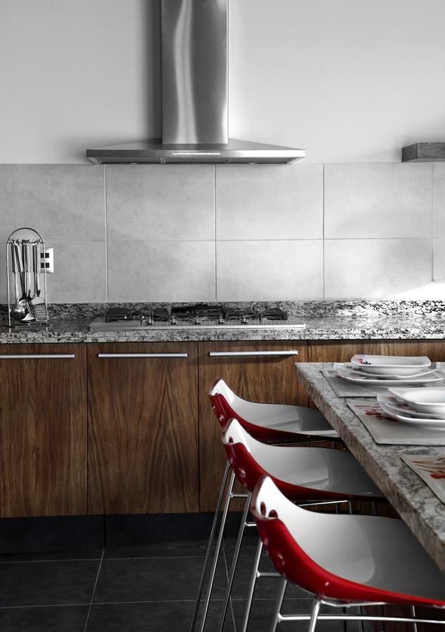 Cucina rossa fotografia stock libera da diritti