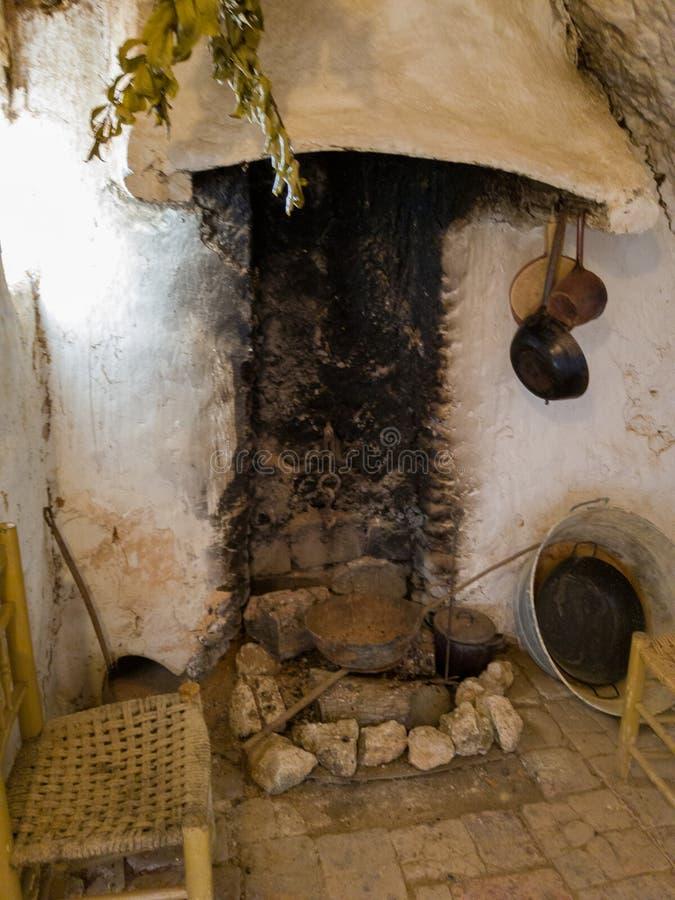 Cucina rurale e vecchia a Hita, Spagna fotografia stock libera da diritti