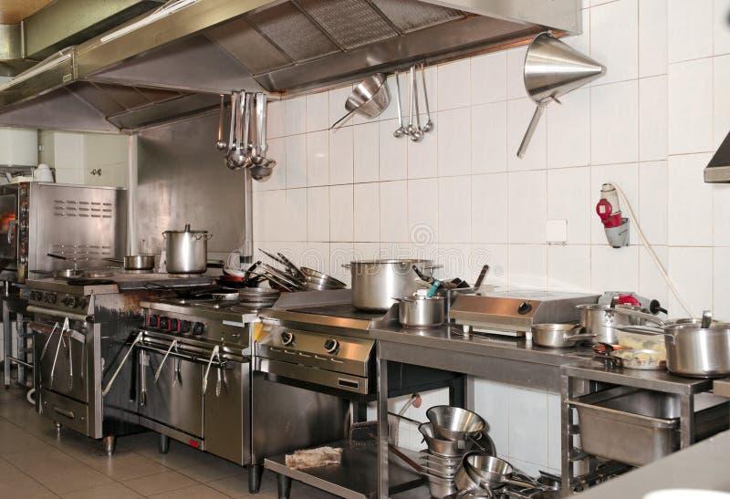 Cucina tipica di un ristorante immagini stock libere da diritti