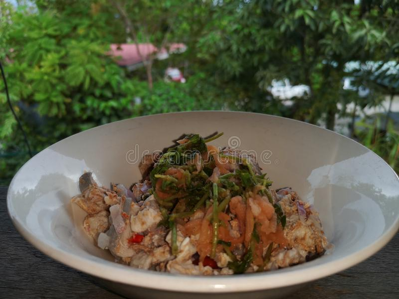 Cucina tradizionale di Kadazan in Sabah, Borneo immagini stock libere da diritti