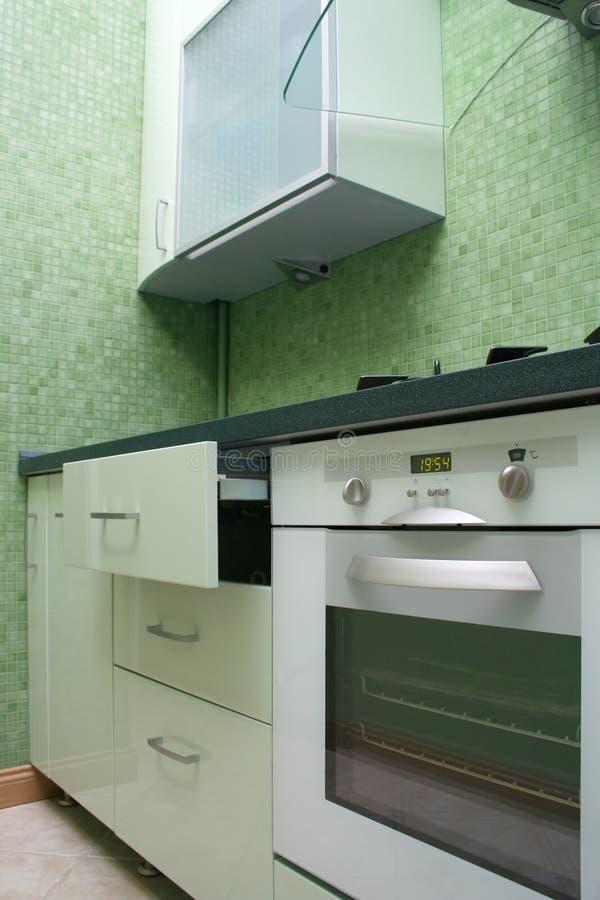 Cucina verde fotografia stock libera da diritti