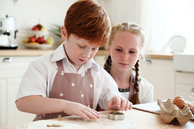 Cucinando con i bambini immagini stock libere da diritti