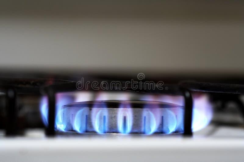 Cucinando con il gas fotografia stock libera da diritti