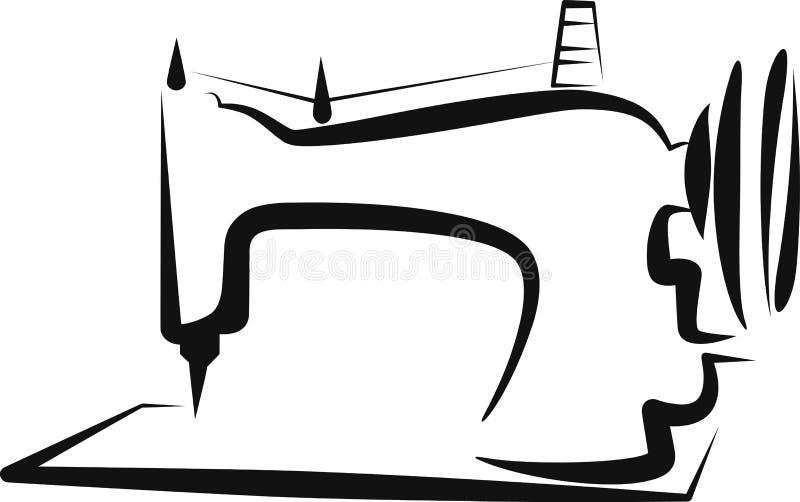 Cucire-macchina illustrazione vettoriale