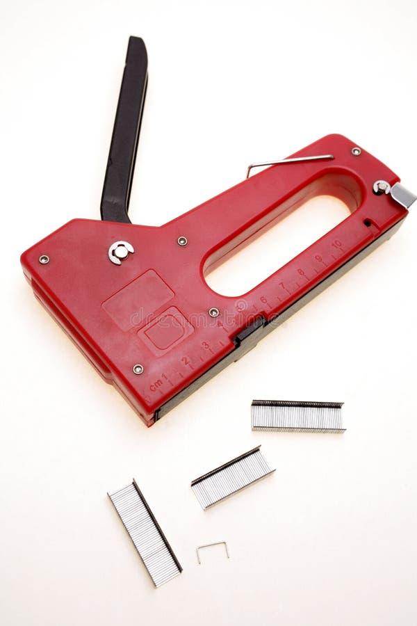 Cucitrice meccanica & graffette fotografie stock