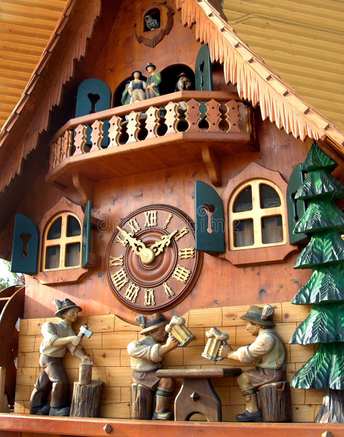 Download Cuckoo Clock From Black Forest Stock Photography - Image: 4134372