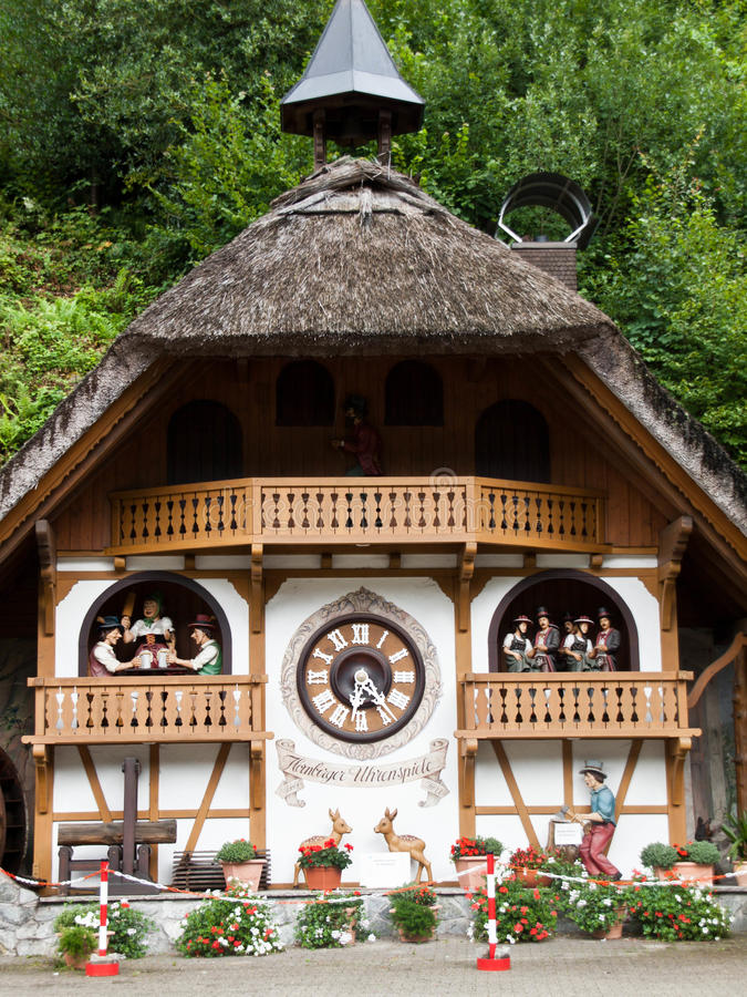 Download Cuckoo Clock House In Hornberg Stock Photo - Image of europe, black: 43579480