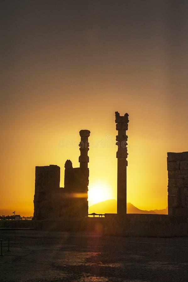 Cucoloris delle rovine di Persepolis, Shiraz Iran fotografia stock